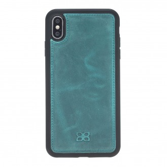 Bouletta Flex Cover Back Leder Case für iPhone XS Max Turquoise Blue