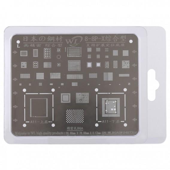 Reparatur von Handy-Nacharbeiten BGA Reballing Stencils für iPhone X / 8 / 8 Plus