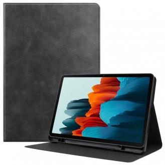 Samsung Galaxy Tab S7 (2020) Horizontal Flip Leder Hülle mit Halter-Schlaf Schwarz