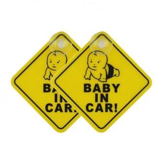 Baby in Car Aufkleber