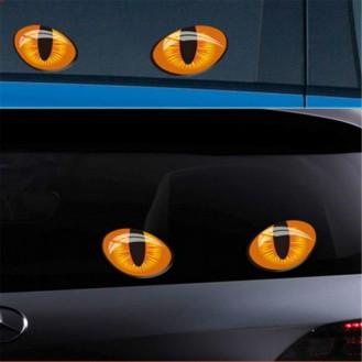 Simulation Katze Augen Autoaufkleber 3D Rückspiegel