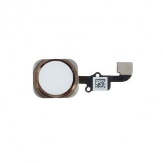 iPhone 6 Plus Home Button Flexkabel + Home Button - Weiss/Gold