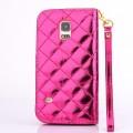 Bling Strass Leder Kreditkarten Etui Galaxy S5 Mini Pink