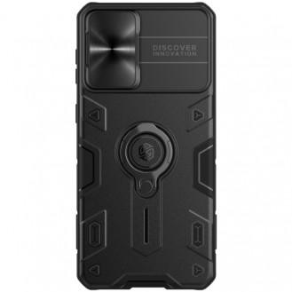 Galaxy S21 Plus 5G NILLKIN Stossfeste Armor-Schutzhülle mit unsichtbarem Ringhalter (schwarz)
