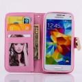 Bling Strass Leder Kreditkarten Etui Galaxy S5 Mini Rosa