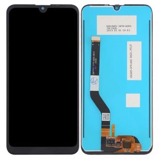 Vollmontage von LCD-Bildschirm und Digitizer für Huawei Y7 (2019) (Schwarz)