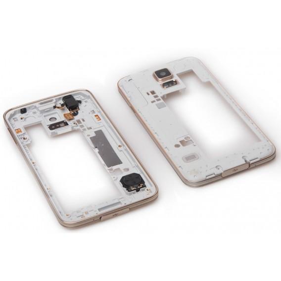 Samsung Galaxy S5 Mittel Rahmen Gold