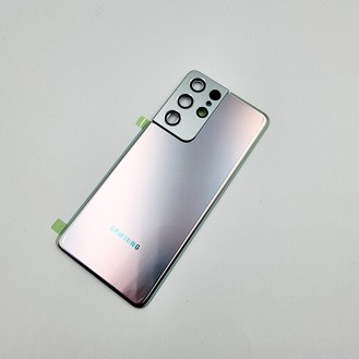 Samsung Galaxy S21 Ultra OEM Backglass Akku Deckel Phantom Silver