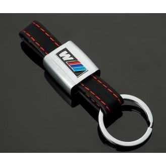 M Power Schlüsselanhänger Schwarz Leder  (Auf Wunsch mit Gravur)
