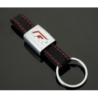 Audi R Racing Schlüsselanhänger Leder  (Auf Wunsch mit Gravur)
