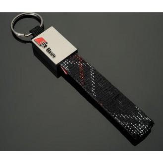 S-Line Schlüsselanhänger Leder  (Auf Wunsch mit Gravur)
