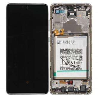 Samsung Galaxy A72 A725F LCD Display, Weiss