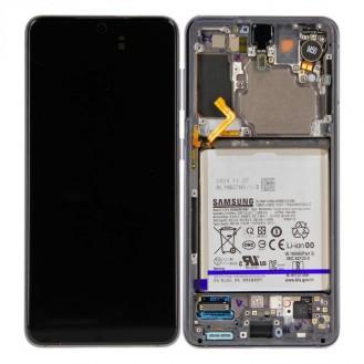 Samsung Galaxy S21 G991B/DS LCD Display inkl. Akku Phantom Grau Serviceware