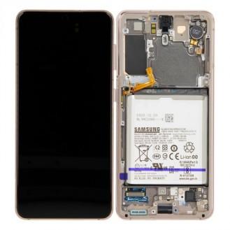 Samsung Galaxy S21 G991B/DS LCD Display inkl. Akku Phantom Violett Serviceware