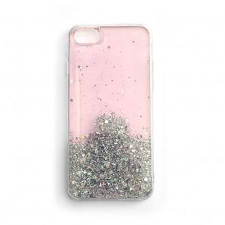 Star Glitter Glänzend Handyhülle Schutzhülle für iPhone 12 Pro / iPhone 12 rosa