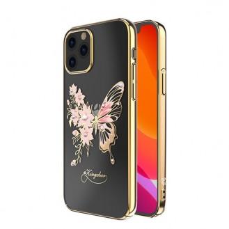 Schutzhülle mit original Swarovski-Kristallen verziert Schmetterling Handyhülle iPhone 12 Pro Max golden
