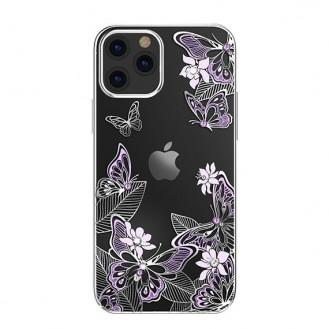 Schutzhülle mit original Swarovski-Kristallen verziert Schmetterling Handyhülle iPhone 12 Pro Max lila