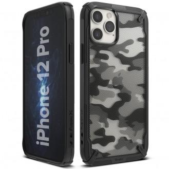Ringke Fusion X Design Panzer Handyhülle Schutzhülle mit TPU Rahmen für iPhone 12 Pro / iPhone 12 schwarz Camo Black
