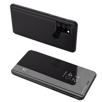 Clear View Case Cover für Samsung Galaxy A12 / Galaxy M12 schwarz