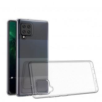 Ultra Clear 0.5mm Silikon Gel Handyhülle Schutzhülle für Samsung Galaxy A12 / Galaxy M12 transparent