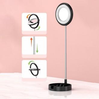 Telefonhalter Ringlicht LED-Ring Blitz für TikTok YouTube Instagram Live-Streaming rose (1TMJ pink)
