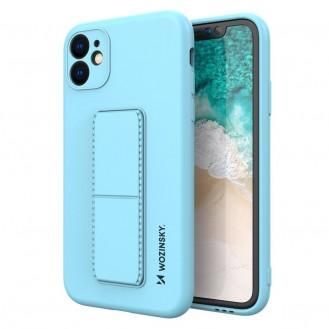 Wozinsky Kickstand Case Flexible Silikon Stand Cover iPhone 12 Pro Max Hellblau