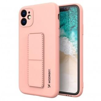 Wozinsky Kickstand Case Flexible Silikon Stand Cover iPhone 12 Pro Max Pink