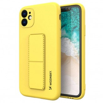 Wozinsky Kickstand Case Flexible Silikon Stand Cover iPhone 12 Pro Max Gelb