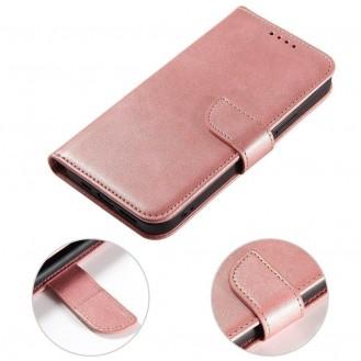 Magnet Case booktype case schutzhülle aufklappbare hülle für Samsung Galaxy A42 5G rosa