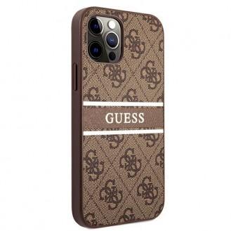 "Guess Ratet mal GUHCP12M4GDBR iPhone 12/12 Pro 6.1""  Hardcase 4G Stripe braun"