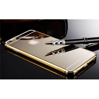 Gold LUXUS Aluminium Metall Spiegel Bumper Case iphone 6 Plus