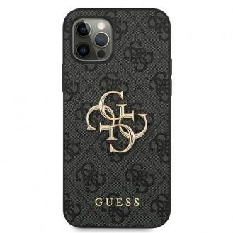 "Guess iPhone 12/12 Pro 6.1 ""grau / grau Hardcase 4G Big Metal Logo"