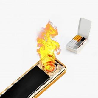 USB Feuerzeug ohne Gas/ Grau (Auf Wunsch mit Gravur)