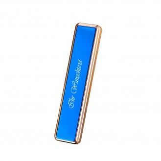 USB Feuerzeug ohne Gas/ Blau (Auf Wunsch mit Gravur)