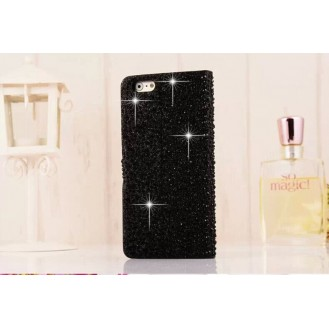 More about Schwarz Wasser Tropfen Bling Leder Etui iPhone 6 Plus
