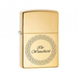 Benzin Exclusiv Feuerzeug - Gold Farben Regenbogen  (Auf Wunsch mit Gravur)