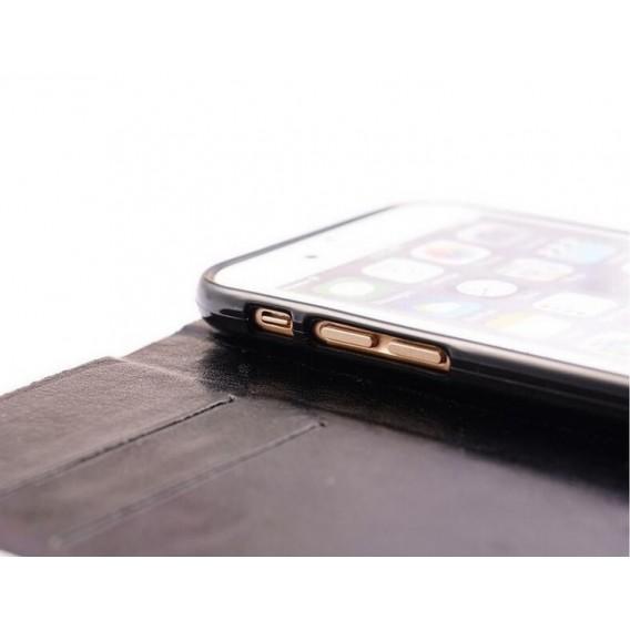 Schwarz Wasser Tropfen Bling Leder Etui iPhone 6 Plus