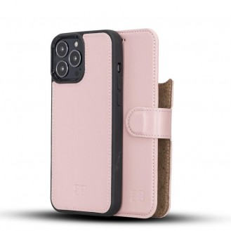 Bouletta Magnetische abnehmbare Handyhülle aus Leder mit RFID-Blocker für iPhone 13 Pro Max Sand