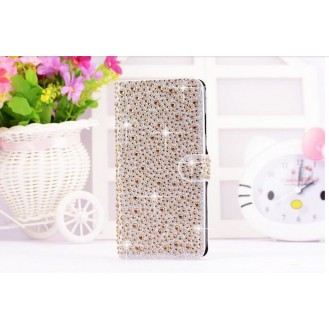 Gold Wasser Tropfen Bling Leder Etui iPhone 6 Plus