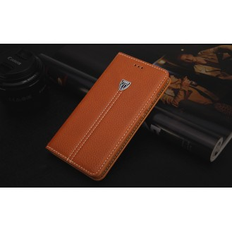 More about Braun Edel Leder Book Tasche Kreditkarten fach Galaxy S6 Edge