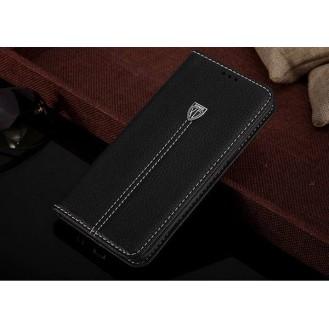 More about Schwarz Edel Leder Book Tasche Kreditkarten fach Galaxy S6 Edge Plus