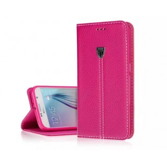 More about Pink Echt Leder Book Tasche Kreditkarten Galaxy S6 Edge +