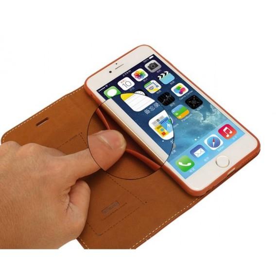 Pink Echt Leder Book Tasche Kreditkarten Galaxy S6 Edge +