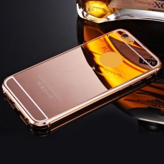 Rose Gold LUXUS Aluminium Metall Spiegel Bumper iphone 6 Plus
