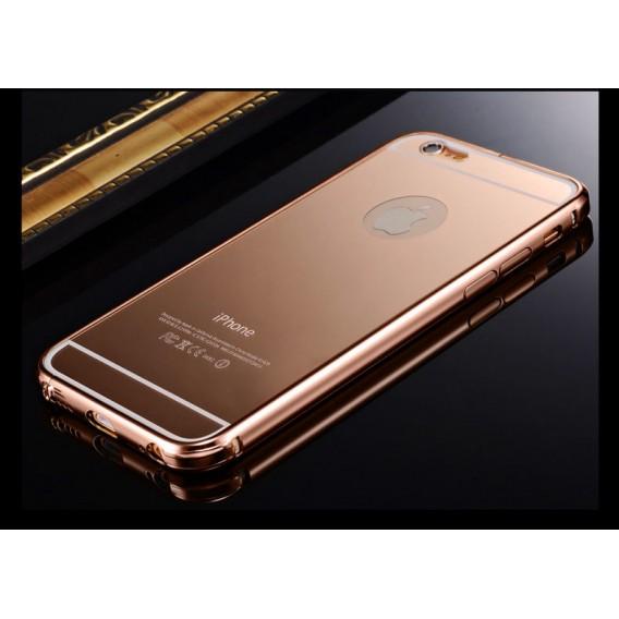 Rose Gold LUXUS Aluminium Metall Spiegel Bumper iphone 6 Plus