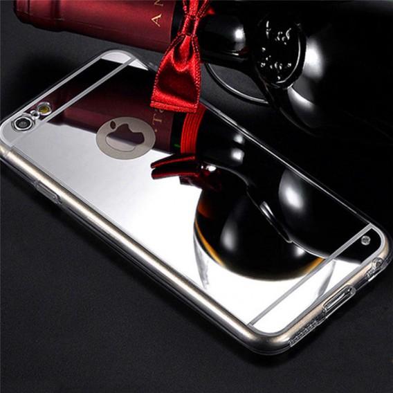Silber LUXUS Aluminium Metall Spiegel Bumper iphone 6