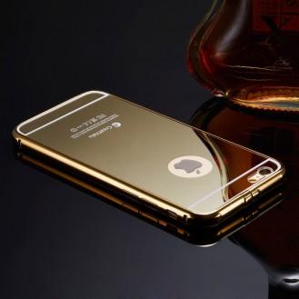 Gold LUXUS Aluminium Metall Spiegel Bumper Case iphone 6