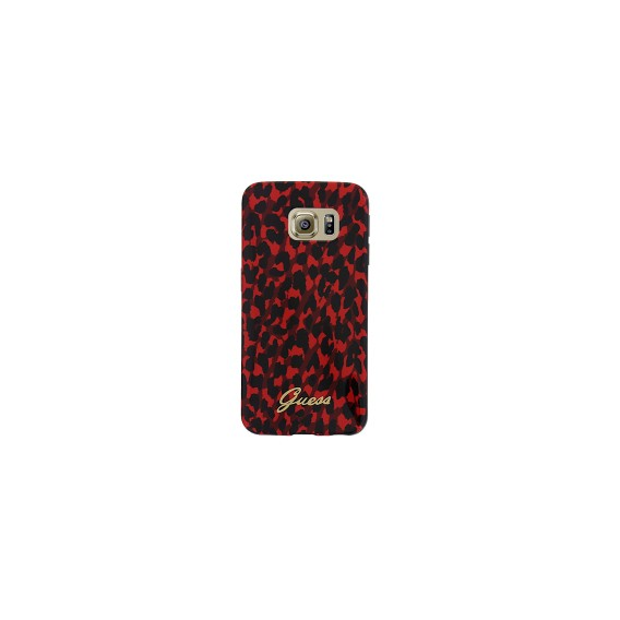 TPU Case Guess Leopard für Samsung G925F Galaxy S6 Edge Red