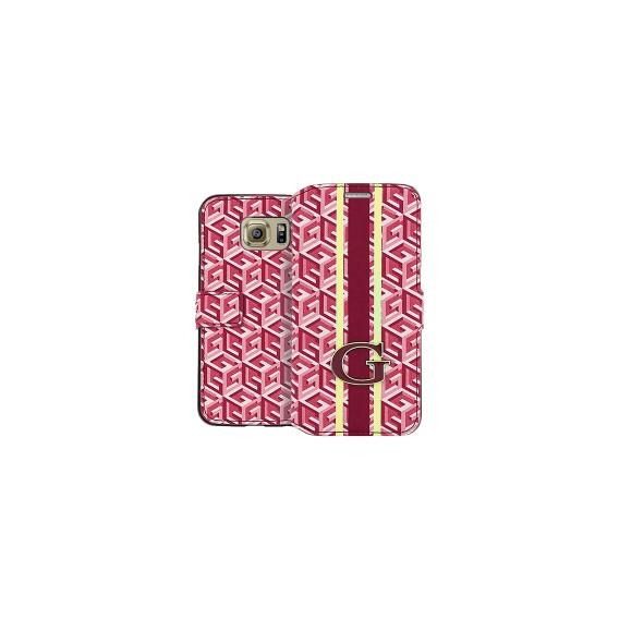 Book Case Guess G-Cube für Samsung G925F S6 Edge Rot
