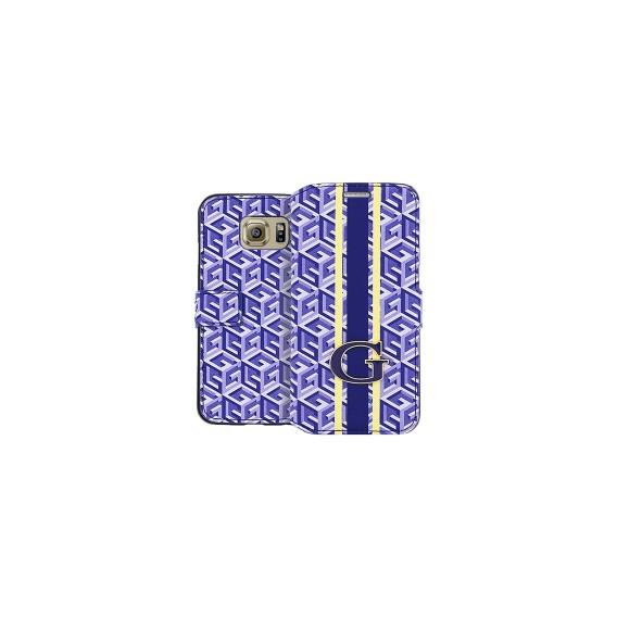 Book Case Guess G-Cube für Samsung G925F S6 Edge Blau